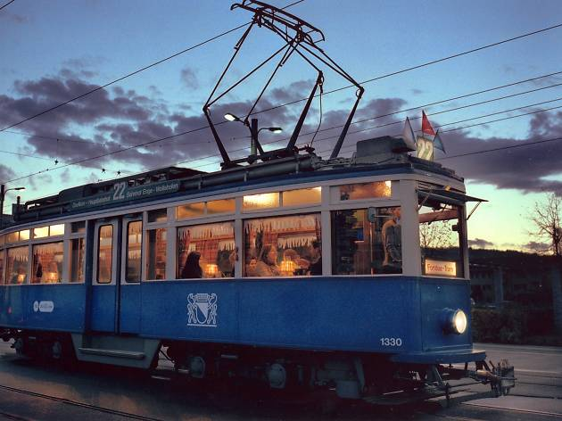 Themed tram restaurant tour in Zurich