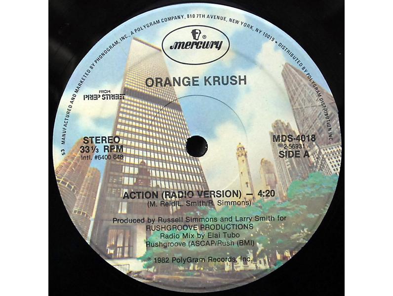 """Action"" by Orange Krush feat. Alyson Williams (1982)"