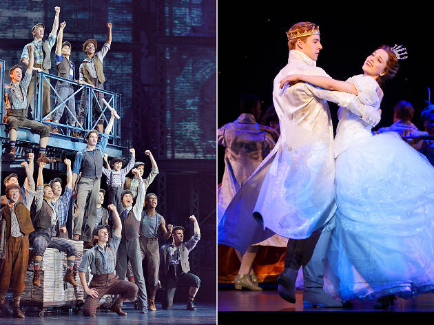 The touring casts of Newsies and Cinderella