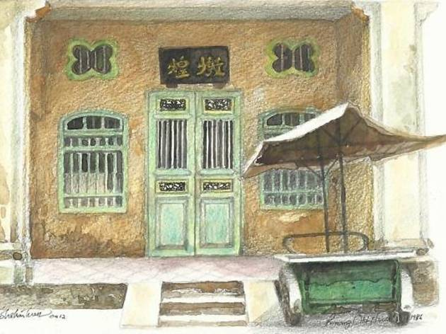 Straits Shophouses Painting Exhibition