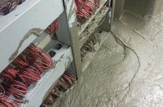 January: Tube concrete flood