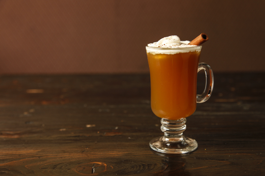 Whiskey-spiked apple cider at Rockit Burger Bar