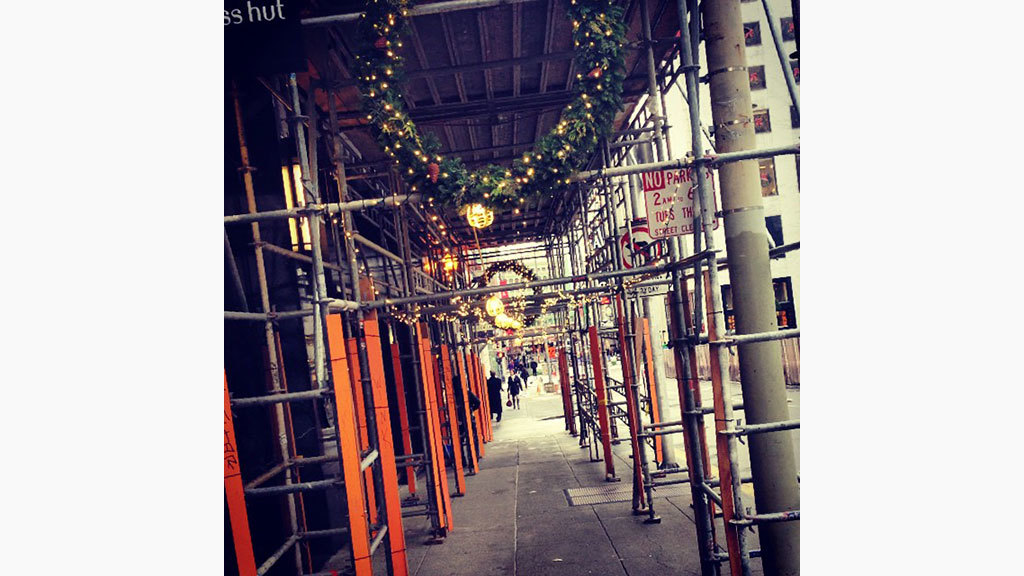 Adding some holiday cheer to downtown construction