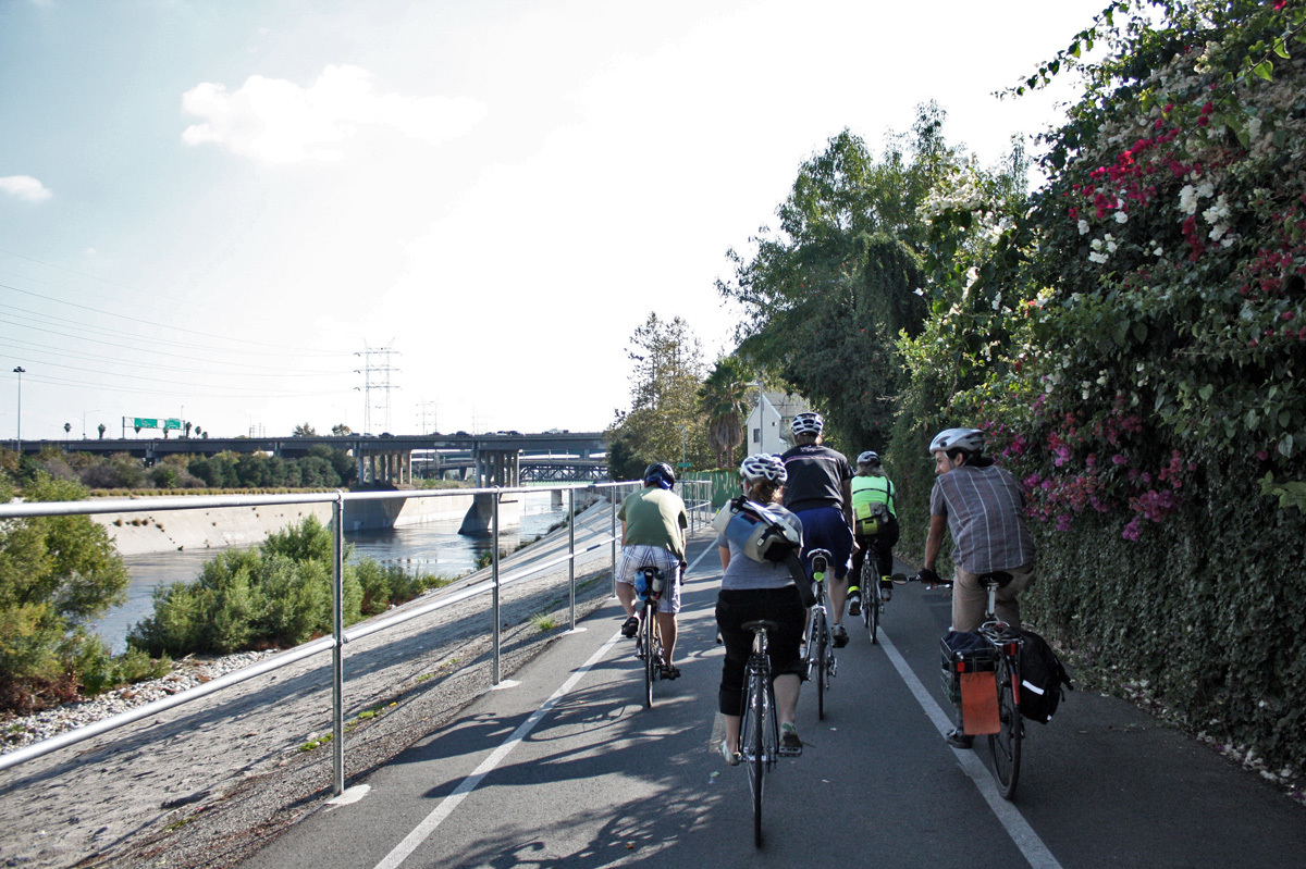 Pedal the LA River bike path
