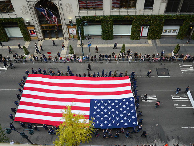 Joint Base Airmen March in NYC Veterans Day Parade