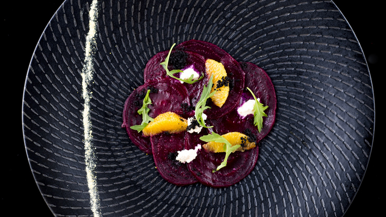 The Disgruntled Chef - Festive Lunch - Roasted Beetroot Carpaccio