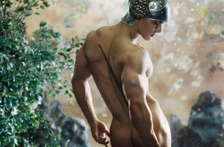 El hombre al desnudo (Foto: Pierre & Gilles/Cortesía Munal)