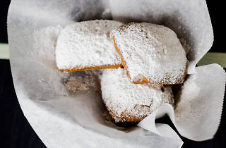 Analogue's brunch includes these outstanding beignets.