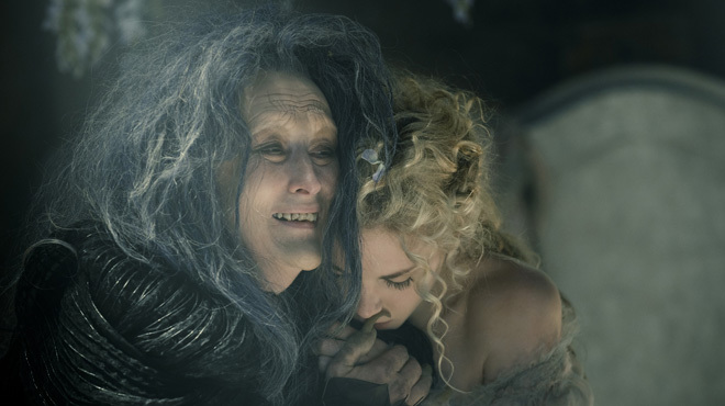 Meryl Streep as the Witch and MacKenzie Mauzy as Rapunzel in Into the Woods