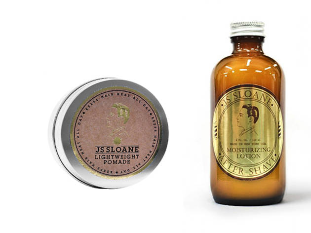 JS Sloane lightweight pomade and after shave moisturising lotion