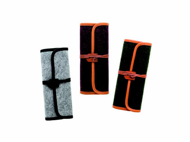 Indigo basic canvas roll pencil case