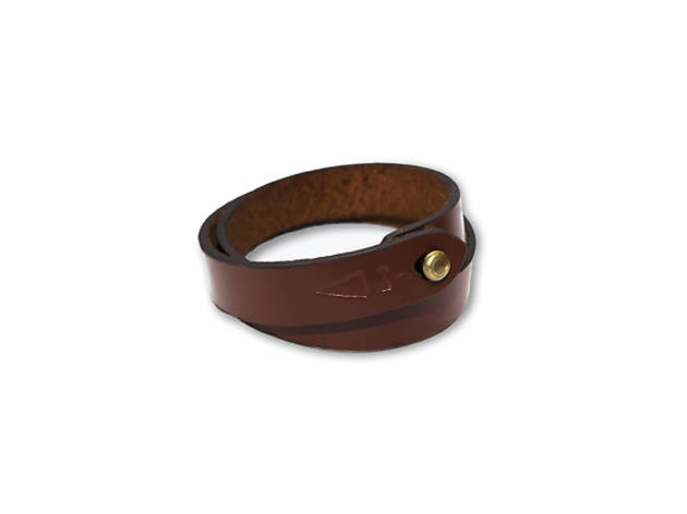 Gnome and Bow - Twine chestnut leather bracelet