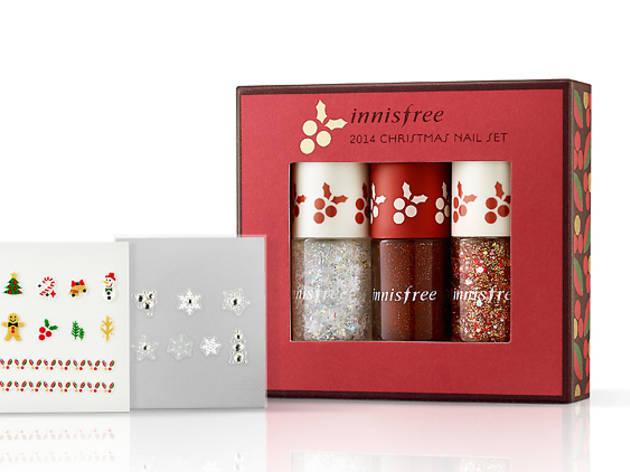 Innisfree Christmas nail set