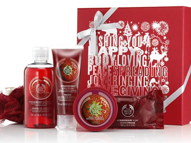 Strawberry festive picks gift set