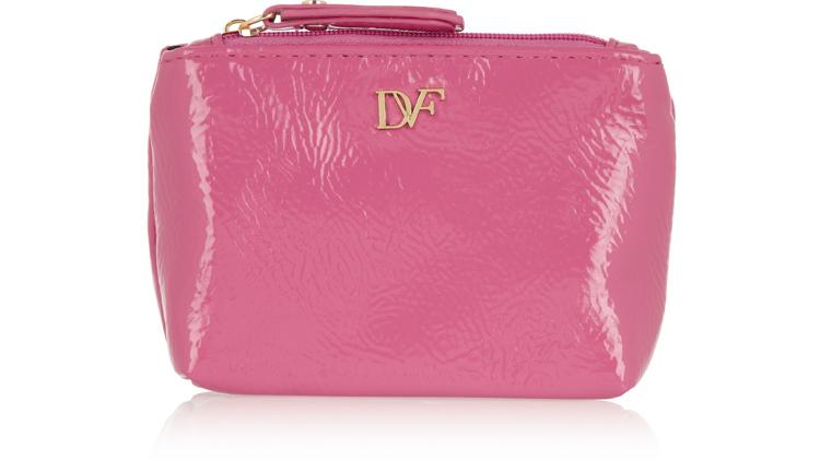 Diane Von Furstenberg faux patent leather on-the-go essentials kit