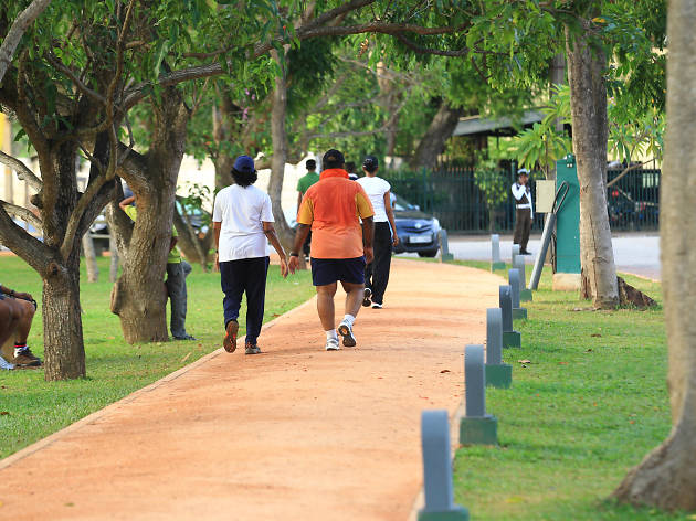 Take a jog or walk along a walking/jogging track