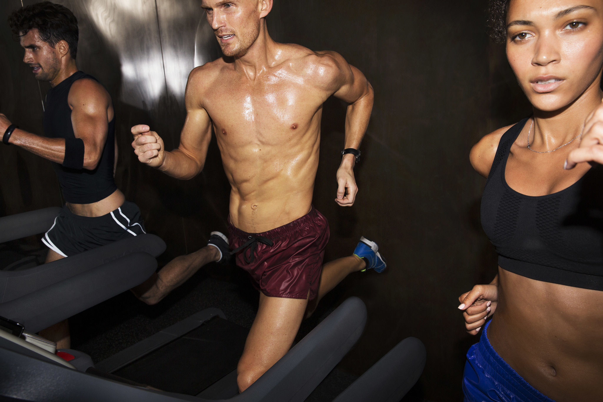 Treadmill interval running at Equinox