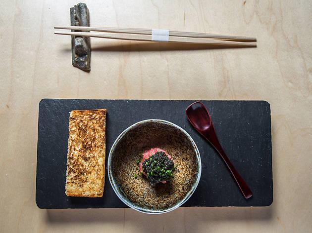 SHUKO toro tartare milk bread caviar