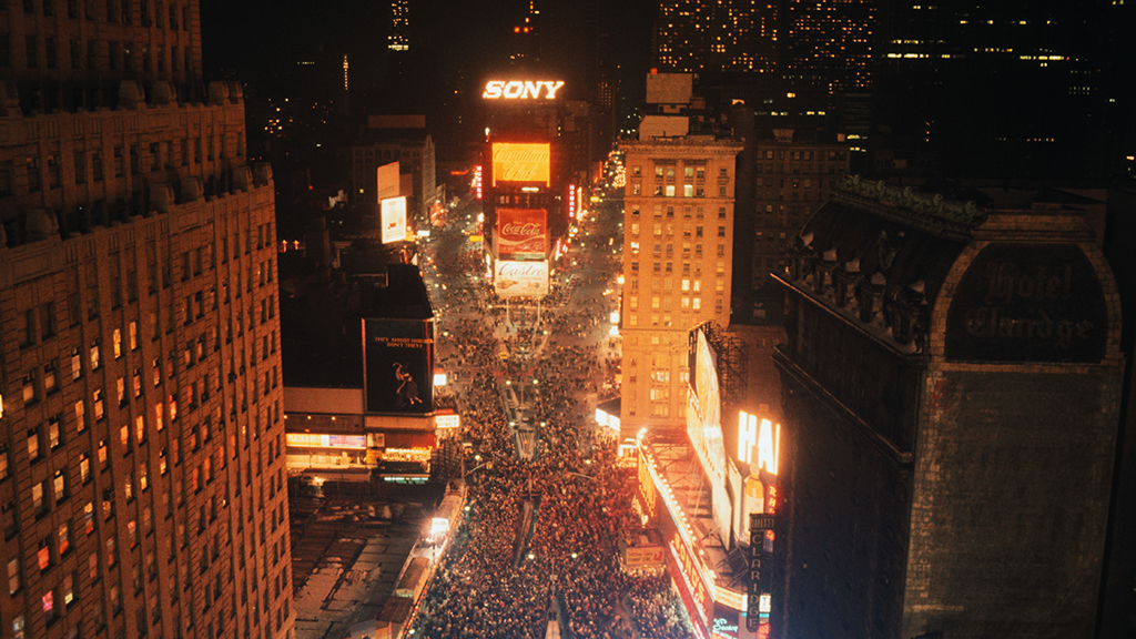 Classic photos of New Year's Eve in New York