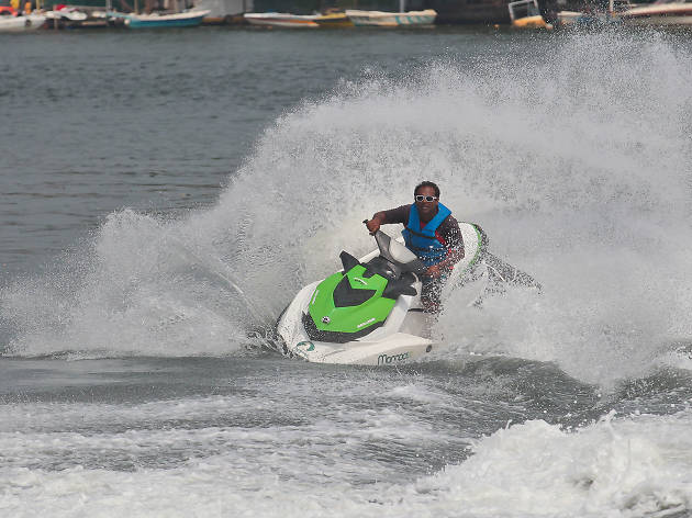 Water skiing and jet skiing in Bentota
