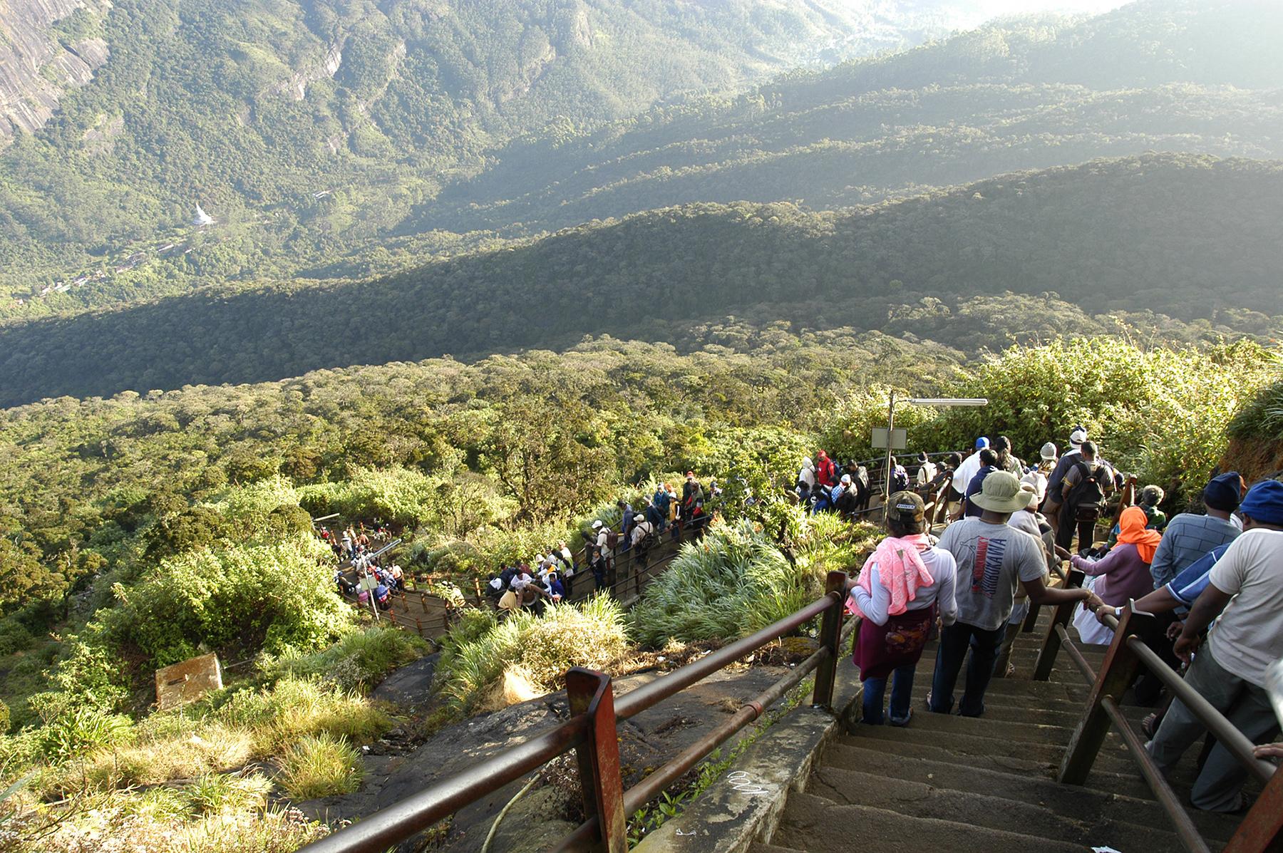 Adam's Peak is a popular pilgrim site in Sri Lanka