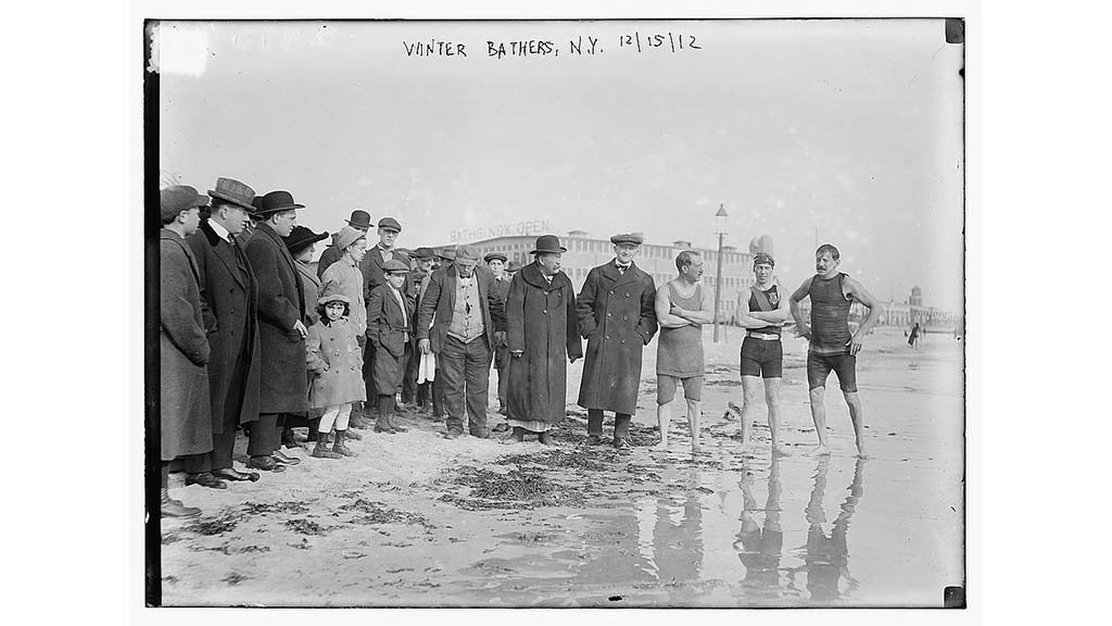 Vintage photos of the New Year's Day Polar Bear Plunge