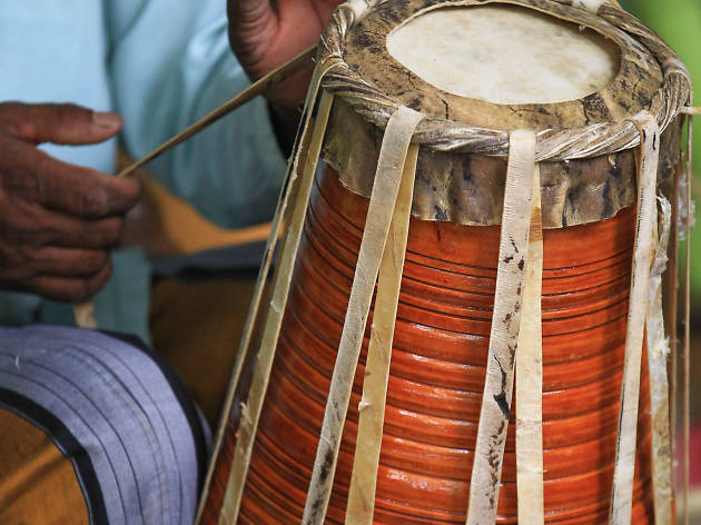 Making of traditional drums is a form of craft in Sri Lanka