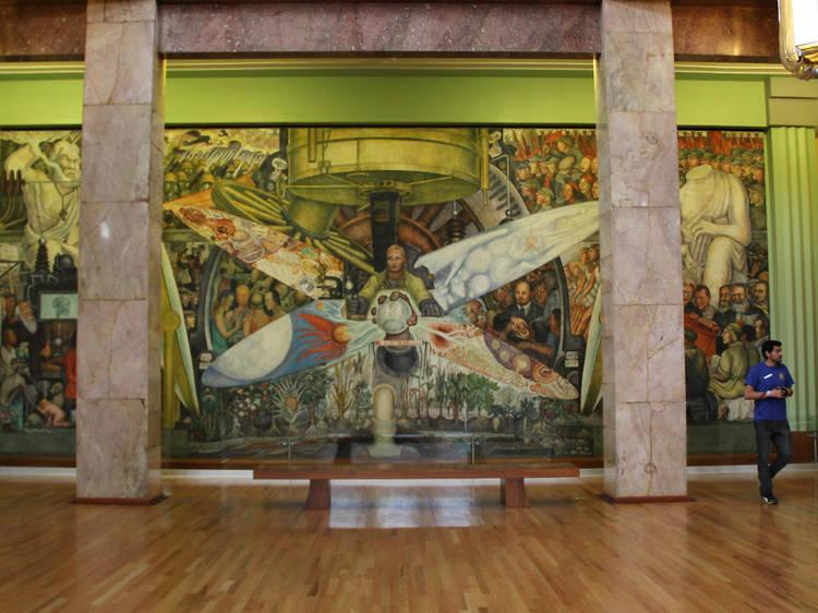 El hombre controlador del universo de Diego Rivera