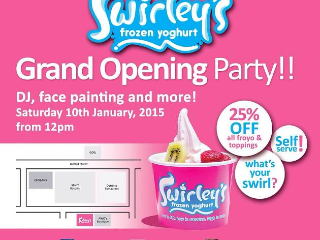 Swirley's Frozen Yoghurt Grand Opening Party