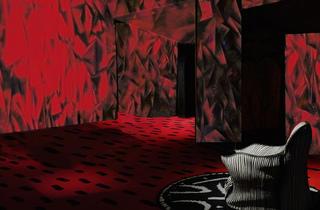 (Exposition 'Mémoires vives' à la Fondation Cartier / 'Les Habitants' de Guillermo Kuitca (étude préparatoire) / © Guillermo Kuitca)