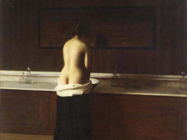 (Eugène Lomont, 'Jeune femme à sa toilette', 1898 / Beauvais, Musée départemental de l'Oise / © RMN Grand Palais / Thierry Ollivier )