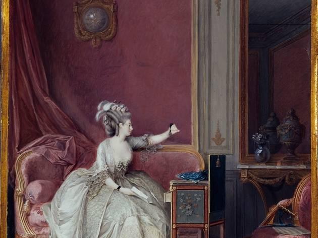 (Niclas Lafrensen, dit Nicolas Lavreince, 'La Consolation de l'absence', c. 1785-1790 / © Musée Cognacq-Jay / Roger-Viollet )
