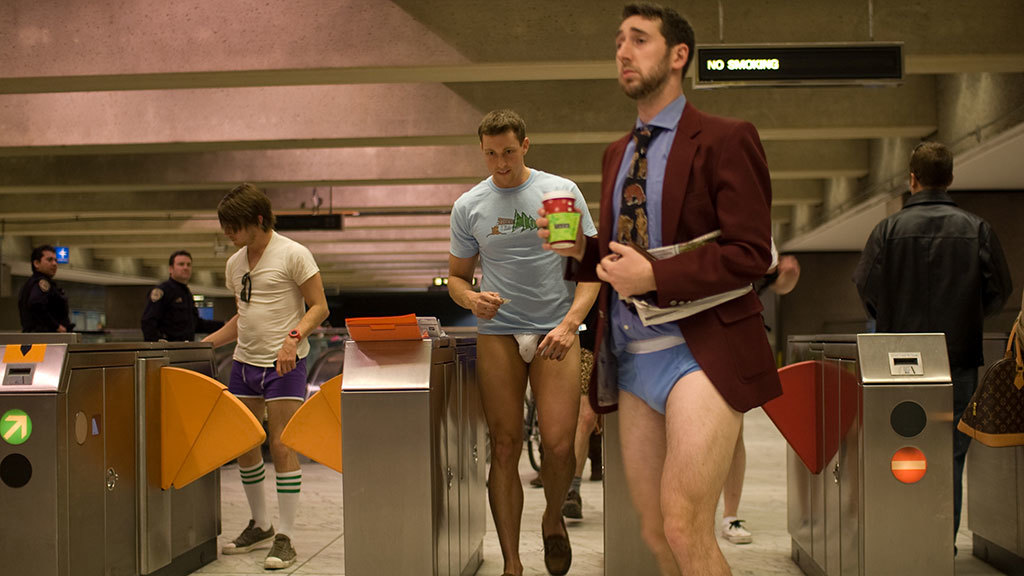 No Pants Subway Ride in San Francisco