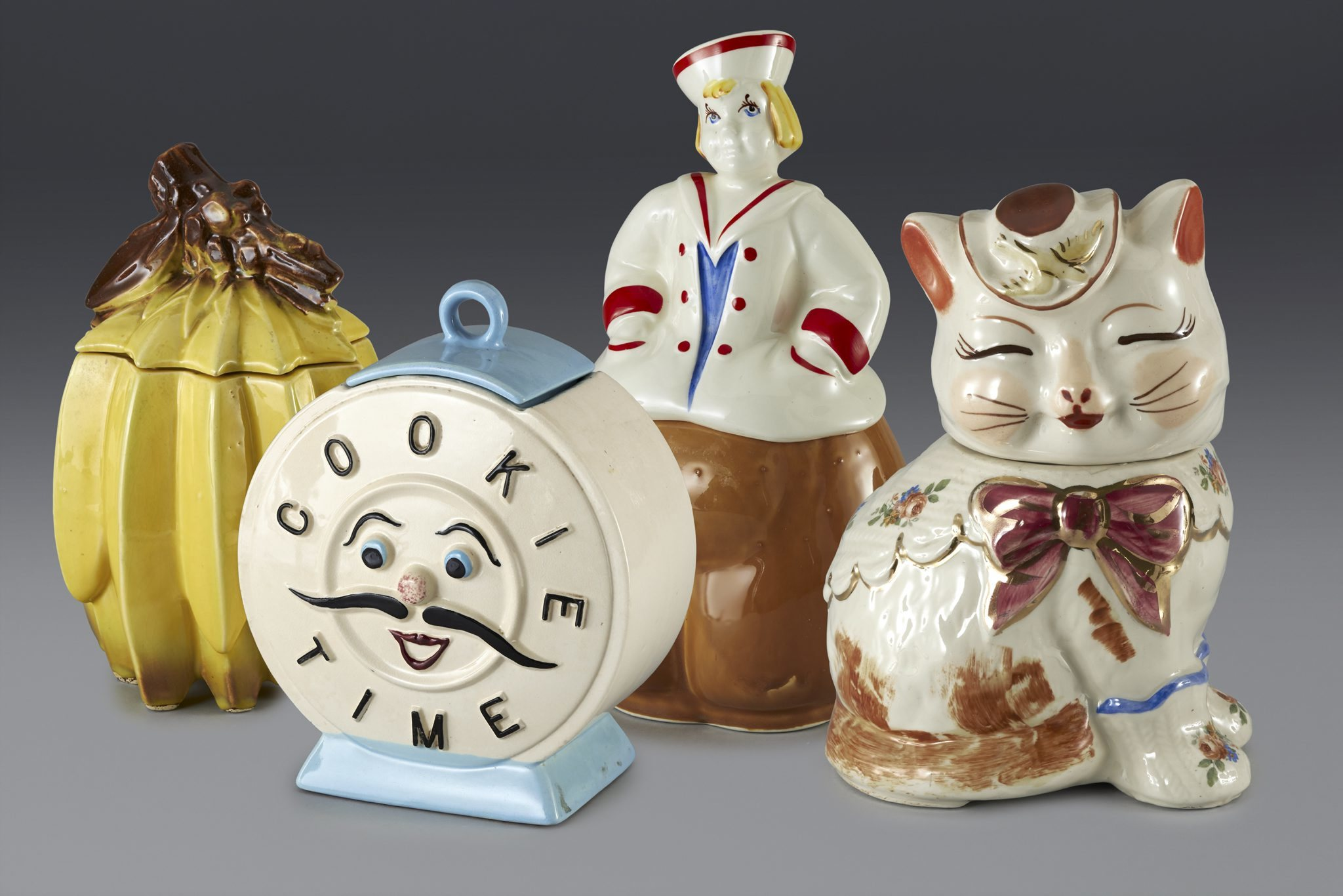 (Cookie jars formerly in the collection of Andy Warhol. Image courtesy the Movado Group)