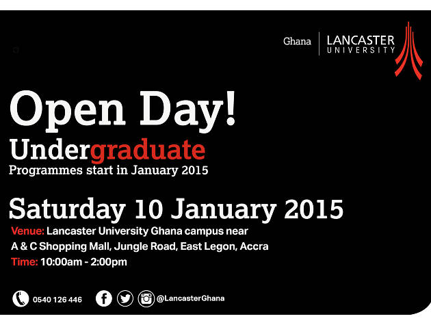 Open Day at Lancaster University Ghana