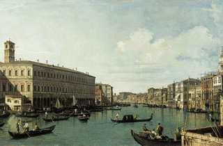 (Canaletto, 'Le Grand Canal, vu du pont du Rialto', c. 1725- 1730 / © Musée Cognacq-Jay / Roger- Viollet)
