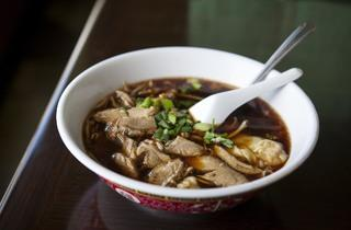 Duck noodle soup at Rodded Restaurant