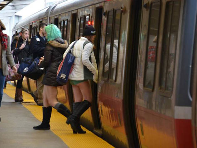 No Pants Subway Ride Boston