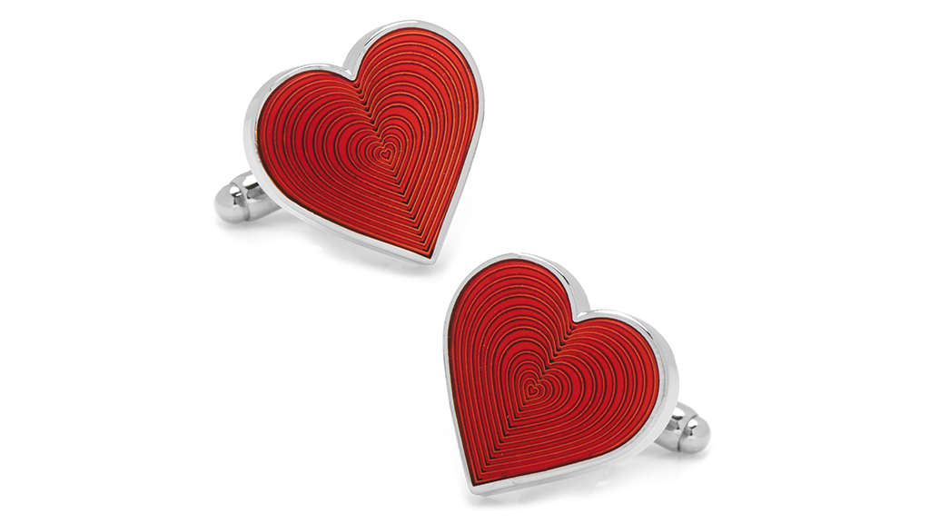 Cufflinks, INC Red Heart Cufflinks