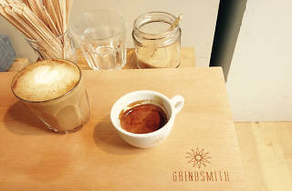 Flat white at Grindsmith
