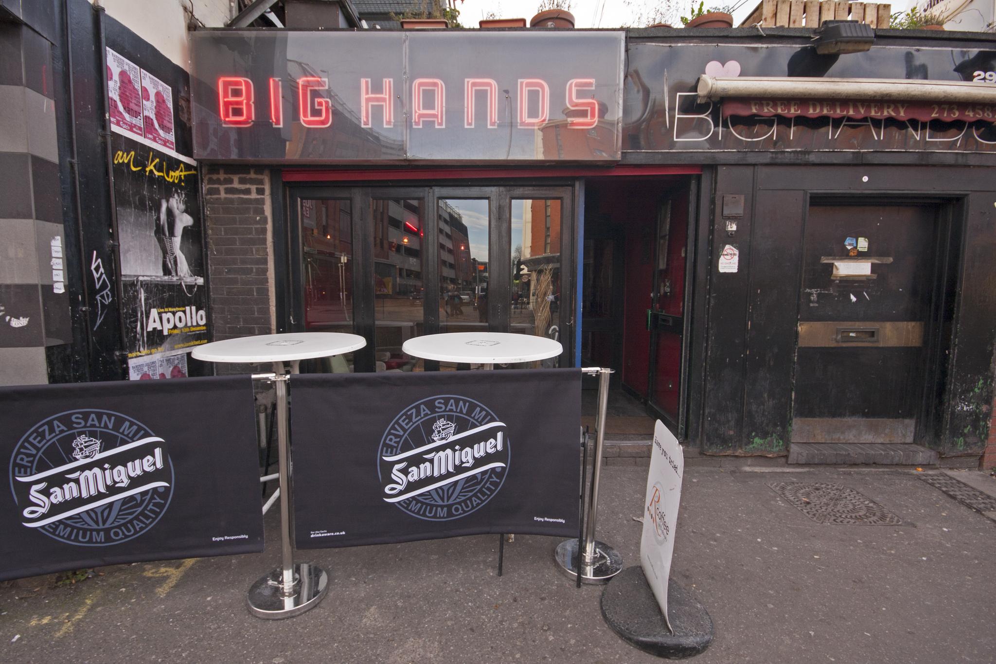 Big Hands, Nightlife, Manchester