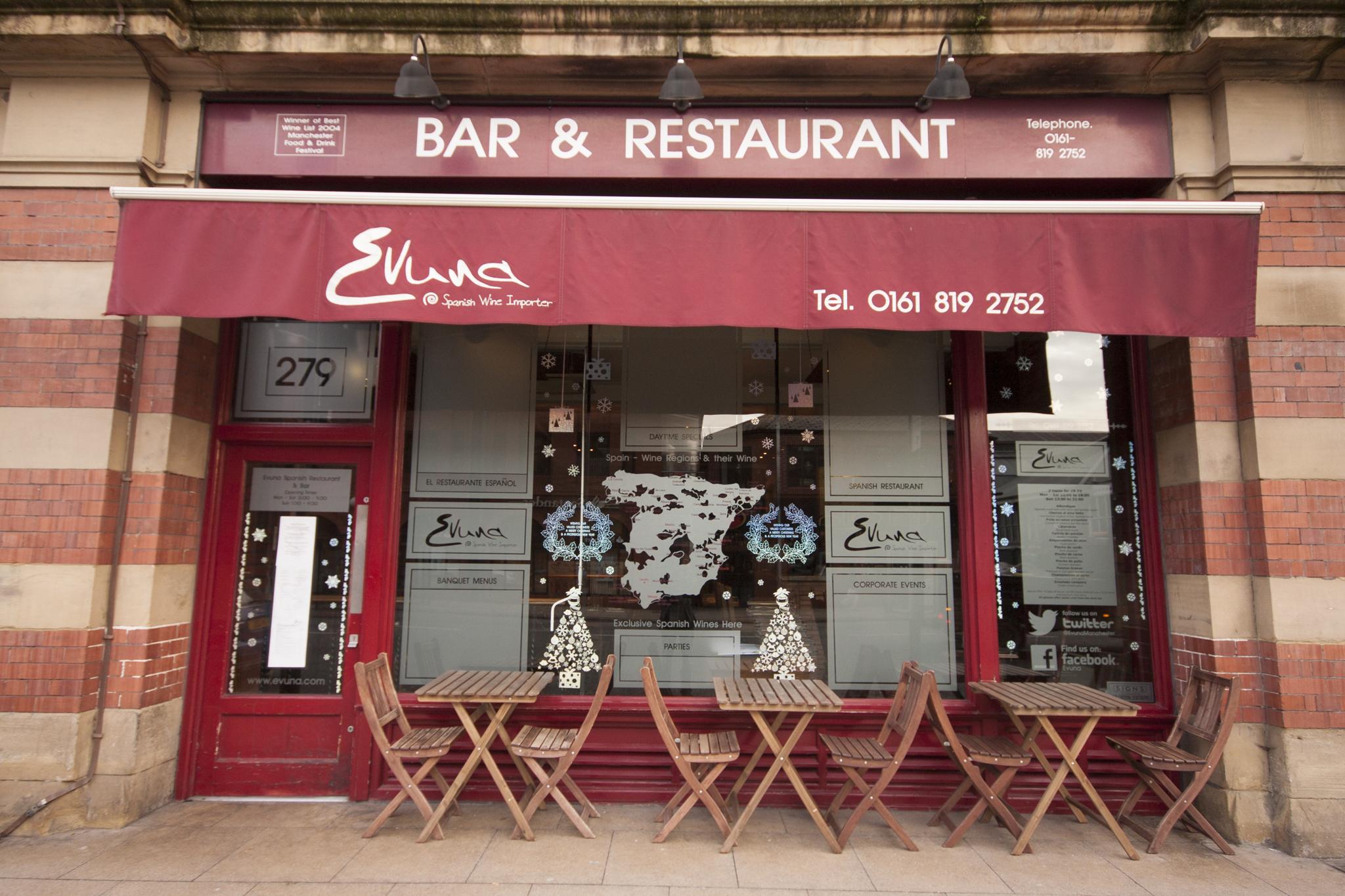 Evuna, Restaurants, Manchester