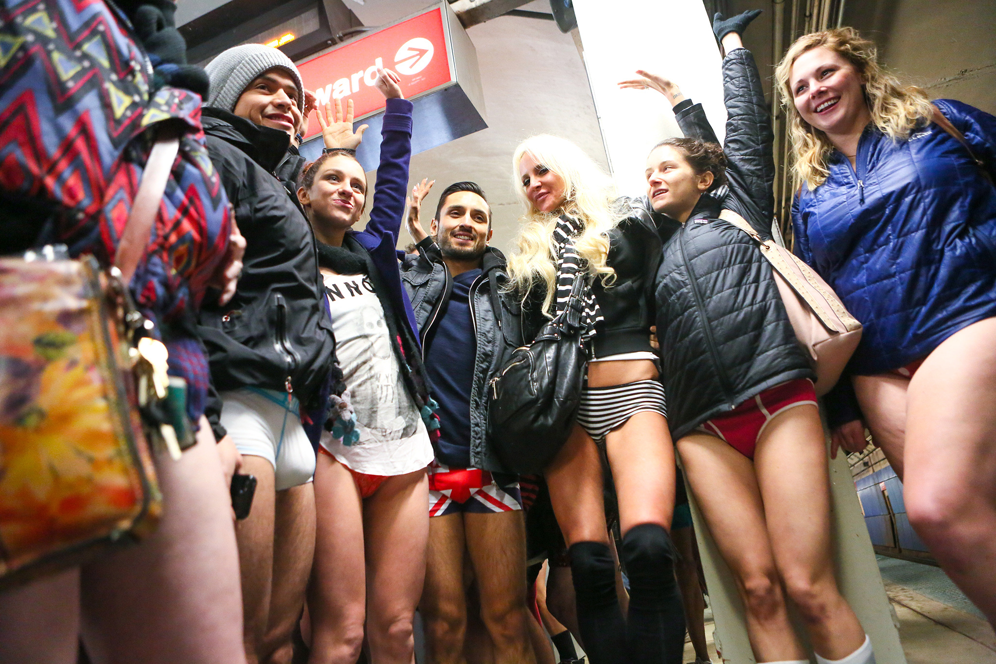 Photos: No Pants Subway Ride