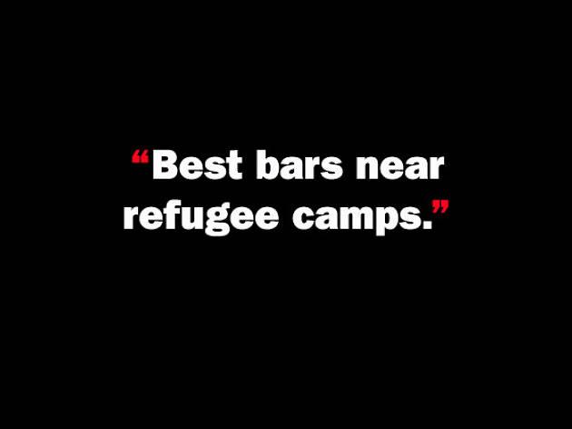 Best bars near refugee camps.