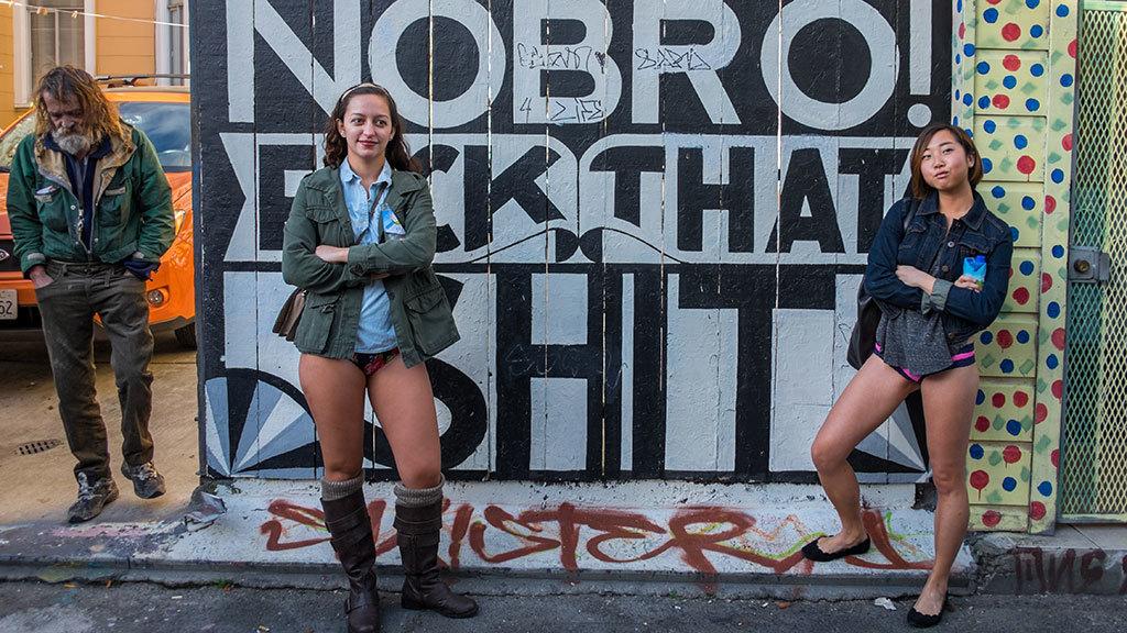 No Pants Subway Ride San Francisco 2015