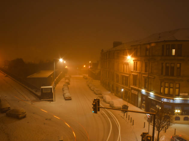 Snow-covered streets