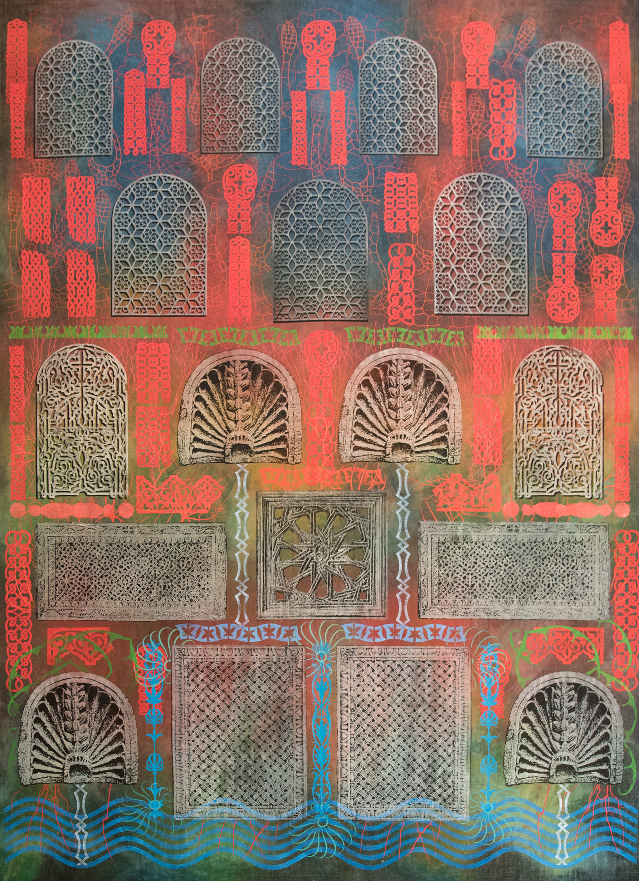 Philip Taaffe, Imaginary Fountain, 2014