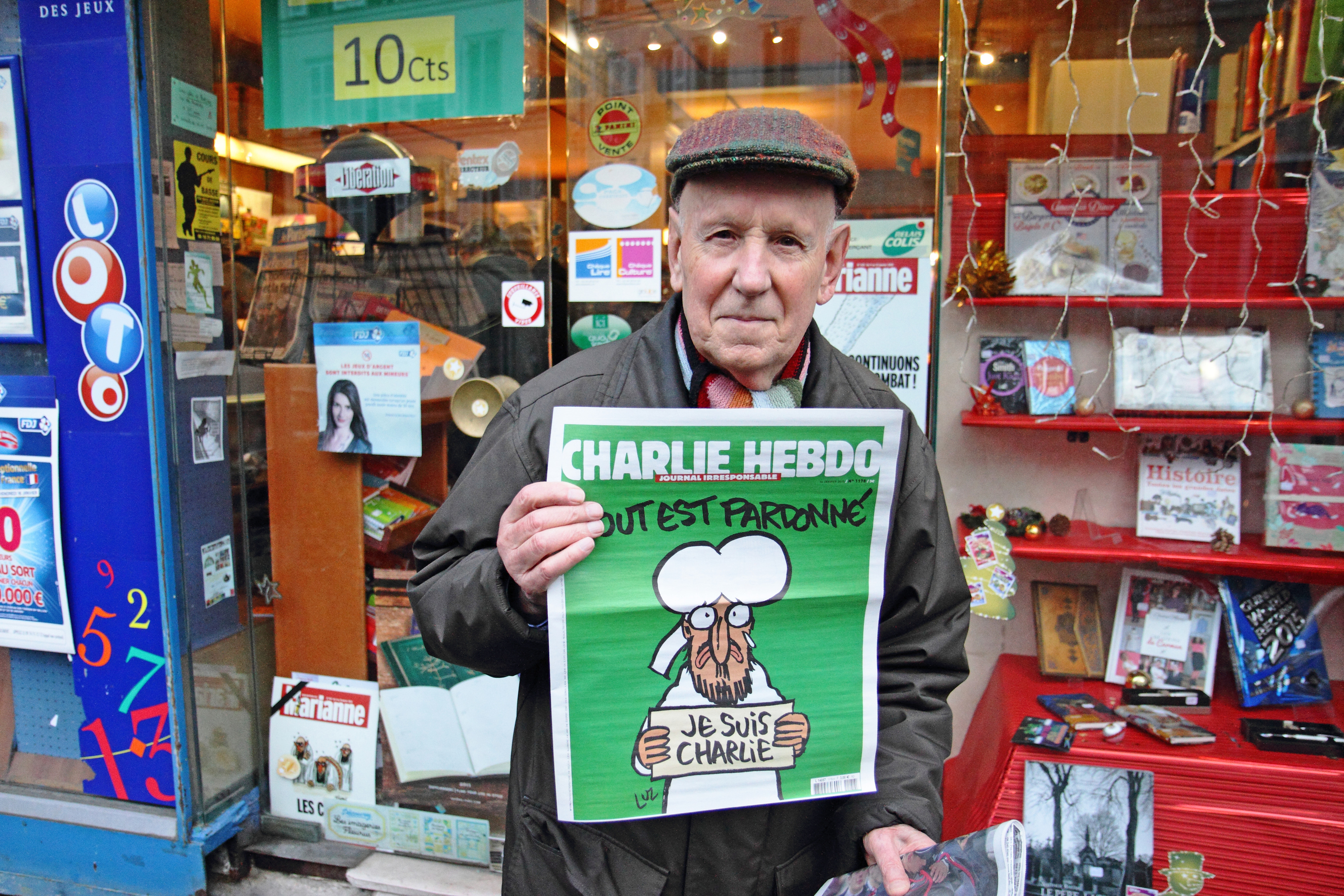 Sold out edition of Charlie Hebdo