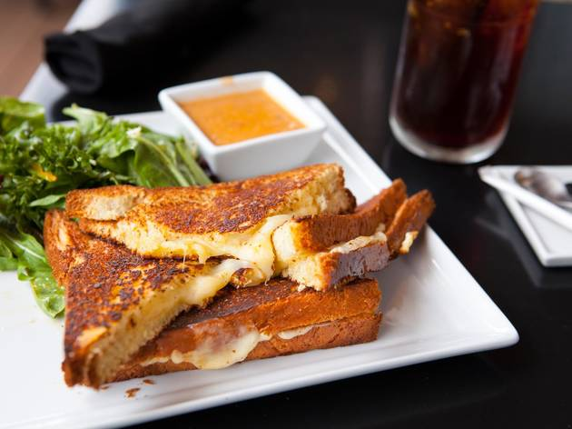 Grilled cheese at Nespresso Café