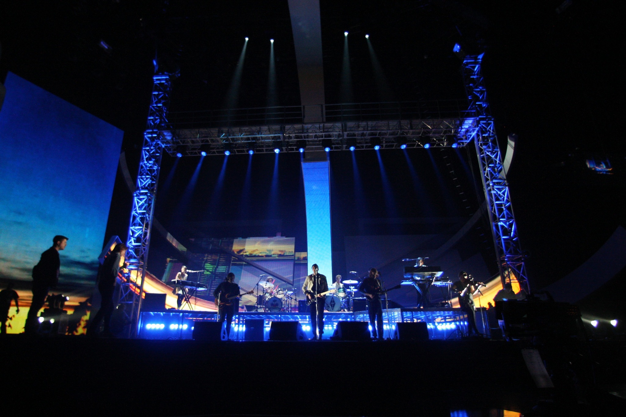 Arcade Fire at The BRIT Awards 2011 - Rehearsals